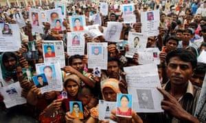 MDG : Building collapse in Savar Dhaka Bangladesh : missing relatives