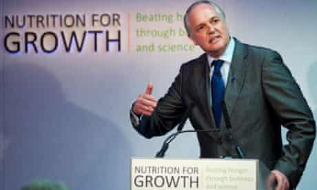 MDG : CEO of Unilever Paul Polman addresses the Nutrition for Growth global hunger summit