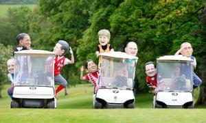 MDG G8 photo stunt at Enniskillen golf course