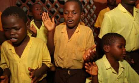MDG : Blind children at the Milton Margai School for the blind, Freetown, Sierra Leone