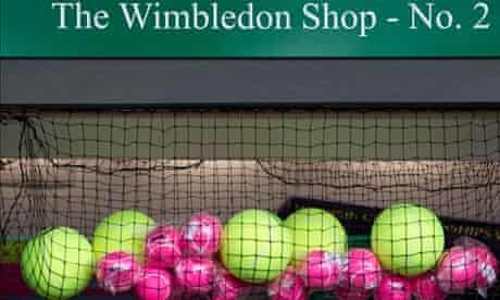 Tennis balls at The Wimbledon Tennis Championships