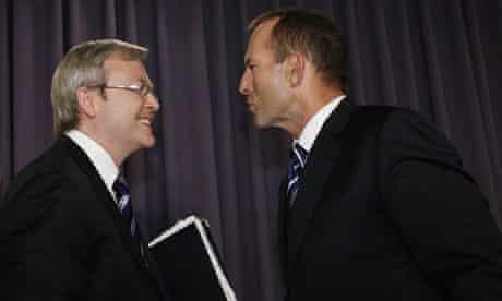 Kevin Rudd Debates Tony Abbott At National Press Club