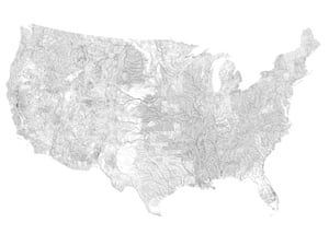 Map of the rivers of the United States of America - big picture ...