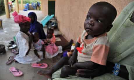MDG : Malnutrition : children suffering from malnutrition at the Gao hospital, Mali