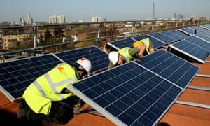 Repowering South London's Brixton Energy Solar 1 on the roof of Elmore House in Loughborough Estate