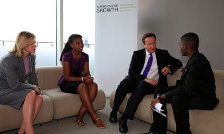 MDG : Nutrition For Growth Global Hunger Summit in London, David Cameron and  Justine Greening