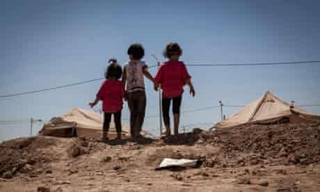 MDG children at Zaatari refugee camp in Jordan