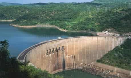 Hydroelectric big dams :  Kariba Dam, on the Zambezi River, Zimbabwe