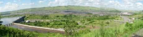 Big Dams : Inga Dam Site and Inga Rapids on Congo river in DRC