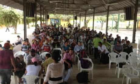 MDG : A meeting of campesinos (peasants) in Tibu, Catatumbo region, Colombia