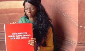 MDG : A file photo of Laxmi, an acid attack fighter and campaigner for Stop Acid Attack