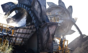 Fossil fuel in Australia : Coal Stockpiles At The Newcastle Coal Terminal