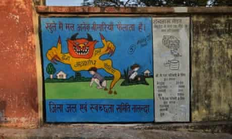 MDG : India and sanitation : defecating outdoors