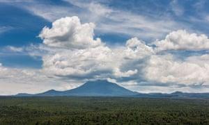 Volcanic landscape from the ICCN Ranger Station at Rumangabo, Virunga National Park, DRC