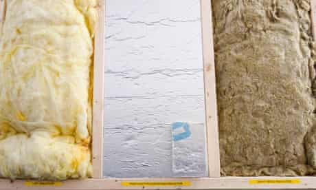 Energy Efficiency : Insulation products at a Green Energy centre in Kendal Cumbria, UK.