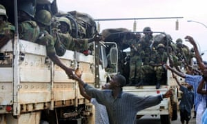 MDG : Liberia peace agreement : ECOMIL Troops Arrive in Monrovia
