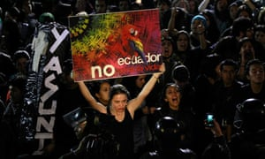 Protest against Ecuador dropping Yasuni ITT project
