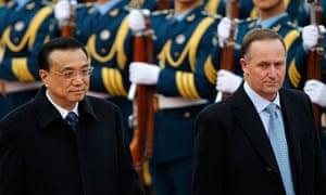 MDG : New Zealand's Prime Minister John Key visits China