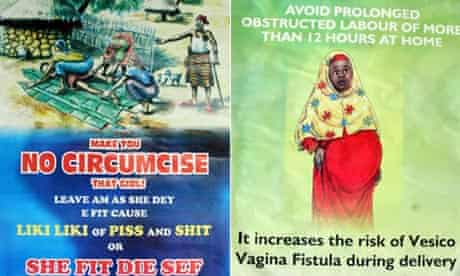MDG : Posters about sexual health for women in Nigeria : VVF and FGM