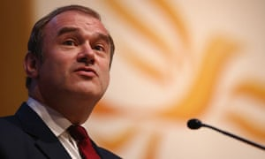Ed Davey Secretary of State for Energy and Climate Change at Lib Dem Autumn conference