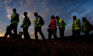Badger Cull in Somerset, protestors on patrol