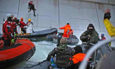 Greenpeace action Against Gazprom's Arctic Drilling