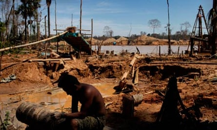 <ercury pollution in amazon : Illegal gold mining in Peru