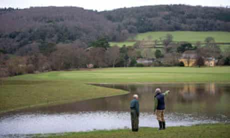 National Trust Holnicote Estate floods defences :  Nigel Hester and Robert Williams