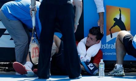 Planet oz heatwave blog : Frank Dancevic at Australia Open tennis championship, Melbourne,