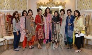 The Nida Azwer atelier showcased shatoosh shawls in Lahore Pakistan