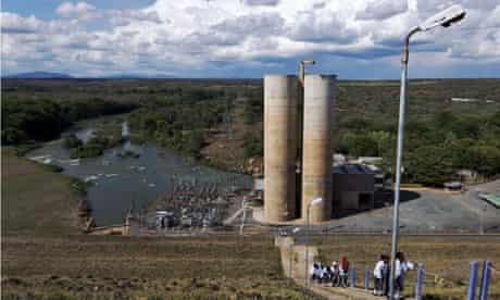 Masinga hydroelectric power plant at the Masinga dam in Kenya