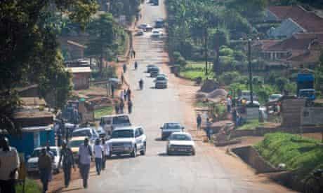 MDG : Road safety in Uganda : traffic in Kampala