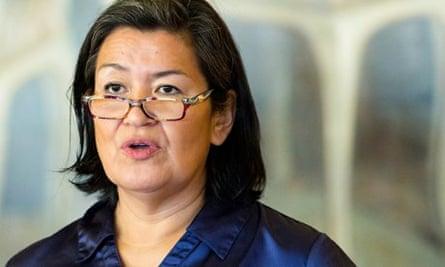 Greenland Premier Aleqa Hammond during Nordic Council summit