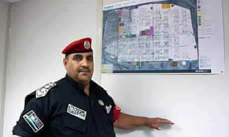 MDG : Colonel Eid al-Qarara'a, head of security at the Zaatari camp, Jordan