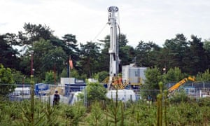 Cuadrilla Resources shale gas drilling site (fracking) in Balcombe