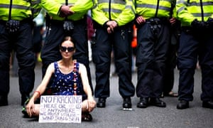Protest against fracking by Cuadrilla Resources in Balcombe