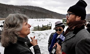 Anti-fracking activist Vera Scroggins, Sean Lennon, Yoko Ono in Pennsyvalnia