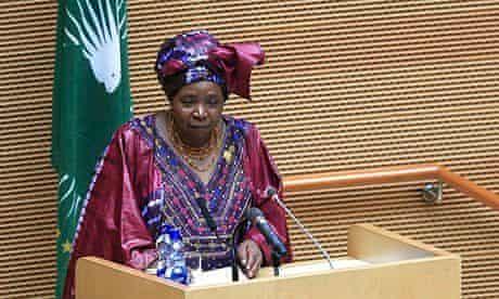MDG : African Union chairwoman Nkosazana Dlamini-Zuma