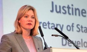 MDG : Secretary for International Development Justine Greening