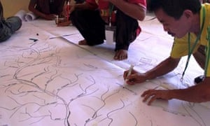 MDG : Indigenous ancestral lands GPS Mapping in Indonesia and climate change