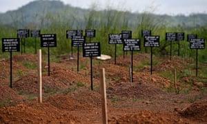 MDG cemetery in Sierra Leone
