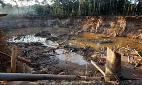 MDG: illegal gold mining in Peru