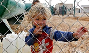 MDG : A Syrian child in a refugee camp in Mafraq, Jordan