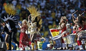 MDG : Shakira performs at Brazil's World Cup closing ceremony