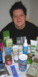 Claudia Cahalane with a selection of hemp products
