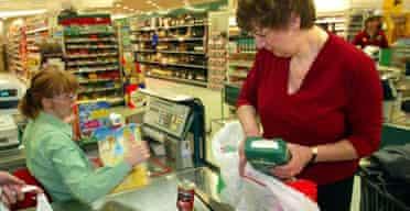Customer at checkout