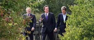 John Gummer, David Cameron and Zac Goldsmith at the Wetlands Centre in Barnes, London