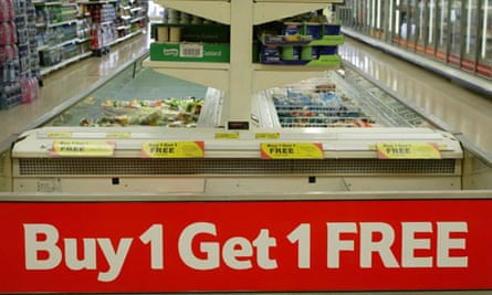 Buy one get one free at a supermarket. Photo: Frank Baron