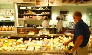 Cheese counter at a Waitrose supermarket, London. Photo: Frank Baron