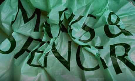 Marks & Spencer (M&S) plastic carrier bag